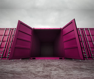 Self Storage Containers   Pink Self Storage
